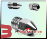 Micro Swiss Plated Wear Resistant Nozzle - Afinia/Up Plus 2/Zortrax