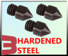 Nozzle MK8 Hardened Steel E3D compatible